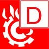 class D fire classification symbol