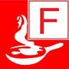 class F fire classification symbol