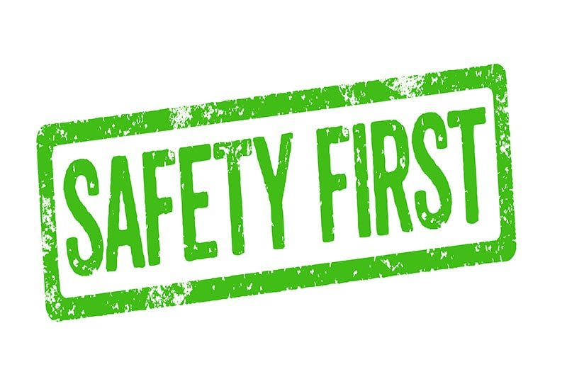 image showing safety first